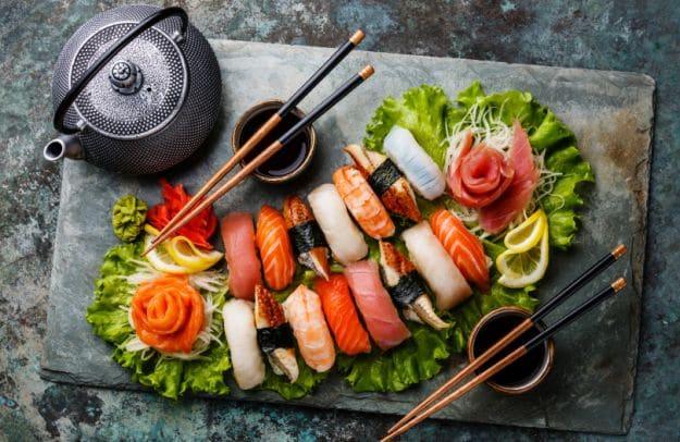 sushi platter japanese catering menu