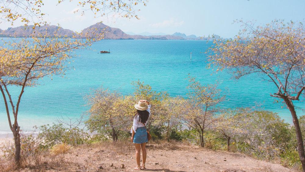Komodo island with beautiful scenery